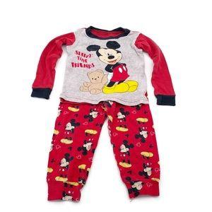Disney Baby Mickey Mouse Pajama Set Size 24 Months